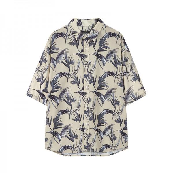 Luxury Men's ice silk pajama for men Holiday shirt