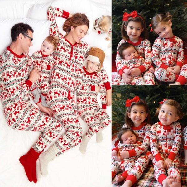 Christmas parent-child pajama sets xmas matching family pajamas