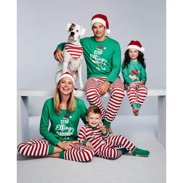 Christmas parent-child pj sets matching family pajamas