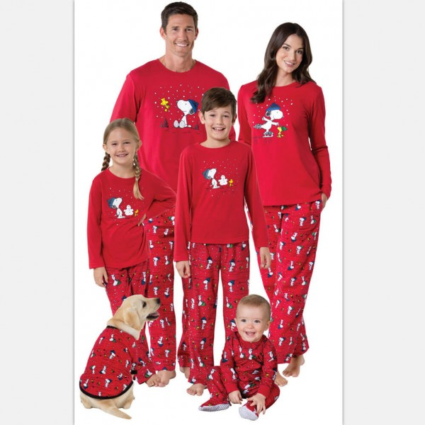 Cheap parent-child pajamas for Christmas printed family matching pjs