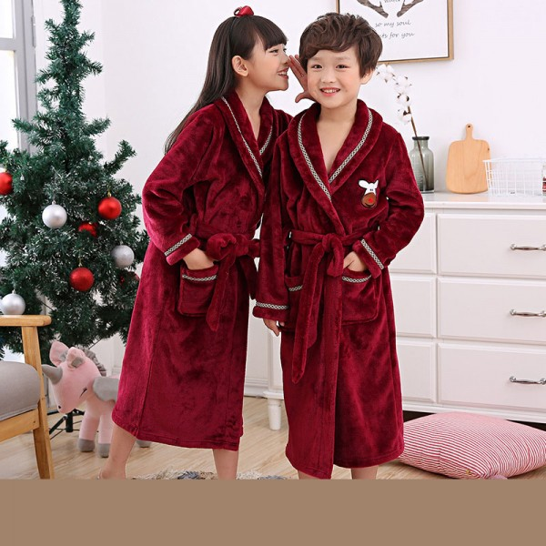 children'spajamas and robe sets cheap flannel nightgown for boys and girls
