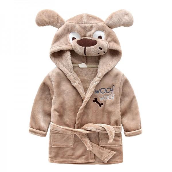 Flannel Cartoon Animal Style Baby pyjamas for Boys and Girls