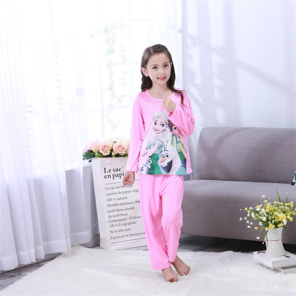 Long sleeved children's cartoon pajamas,girls Frozen queen Anna pajama