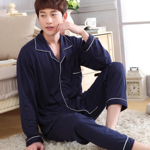 long sleeves Cotton men's pajama sets