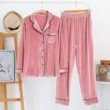 Fall / Winter pure cotton couple cardigan softest pyjamas, golden velvet casual pajamas for women and men
