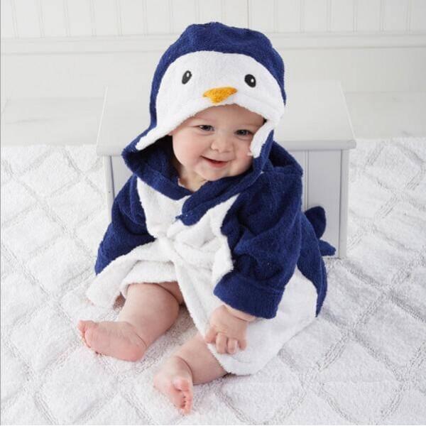 Baby warm penguin crawling set of onesie for children