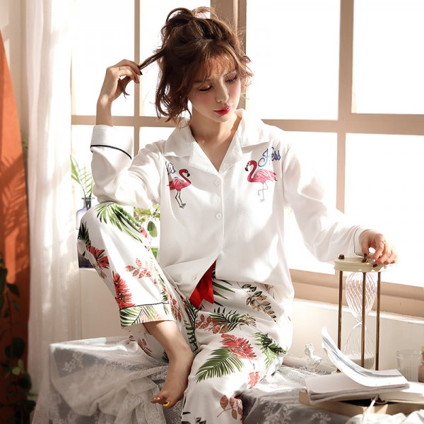 Cotton knitted pajamas new autumn winter pajama sets in Spring /Autumn