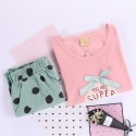 summer sleepwear short sets cotton pajama sets for women T-shirt and short