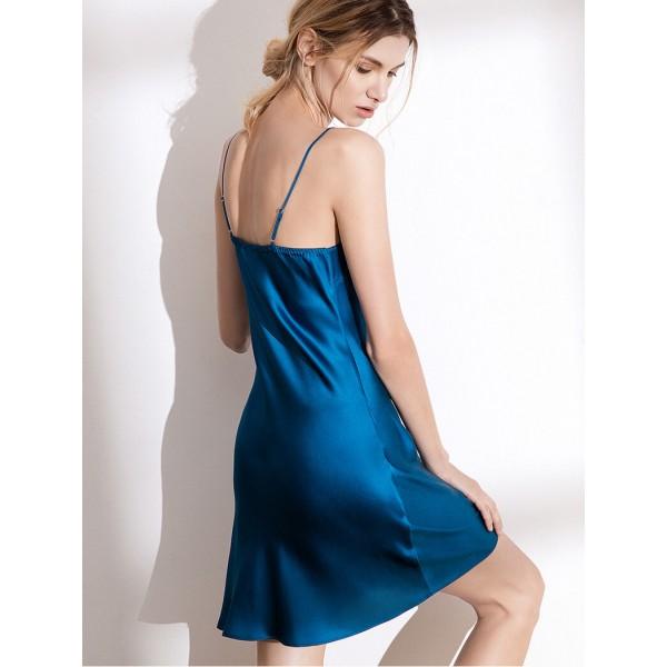 Sexy real Silky nightwear for women luxury silk female sleepwear Suspender skirt