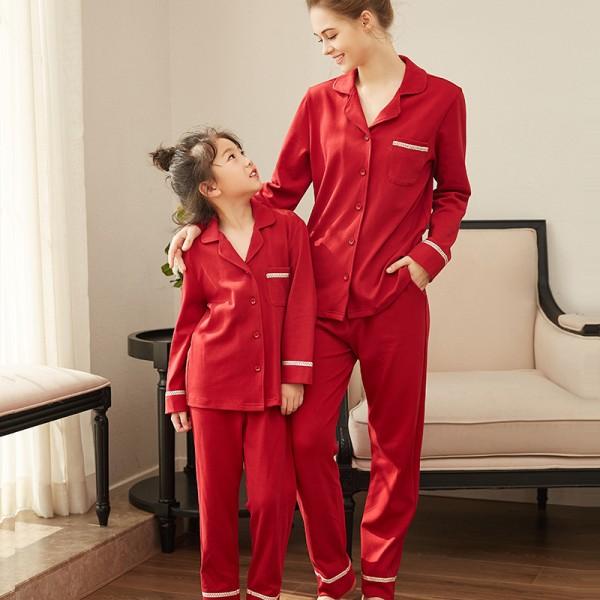 Parent-child pyjamas children's pajamas sets girl famlily pajamas for winter