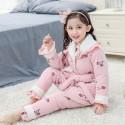 Children's COTTON PAJAMA set with velvet family matching pajamas in Fall / Winter