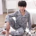 short sleeved Children's cotton pajamas boy's Cartoon print pajama sets